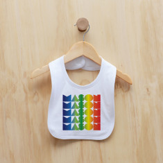 Personalised rainbow gradient boy bib