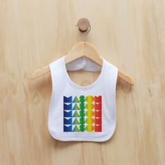 Personalised rainbow gradient boy bib