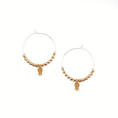 Sterling silver tulip hoop earrings
