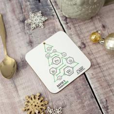 Personalised Chemistree Christmas Coaster