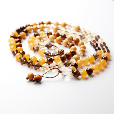 I love chakras solar plexus mala beads for abundance