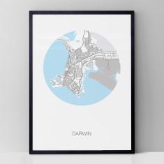 Darwin round print