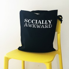 Socially awkward tote bag