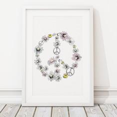 Daisy peace print