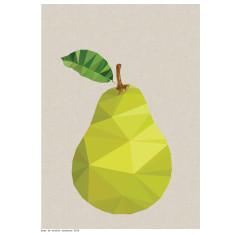 Geometric pear print