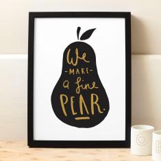 Fine pear print