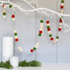 Christmas felt ball garlands