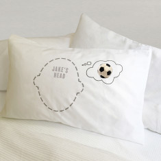 Football Dreams pillowcase with personalisation