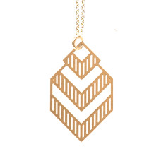 Small gold Deco pendant