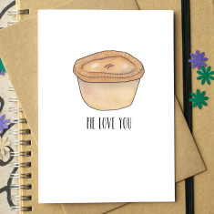 Pie love you card