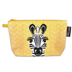Zebra yellow pencil case