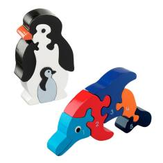 Penguin and dolphin jigsaw value pack