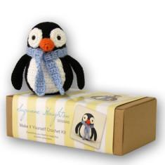 Make-it-yourself crochet penguin kit