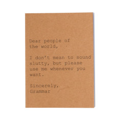 Dear people of the world A6 notebook