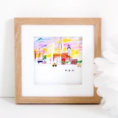 Customised City Art Print - Little Traveler Series
