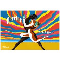 Perrier Le Couple Dansant vintage poster print by Villemot