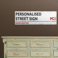 Personalised street sign wall sticker