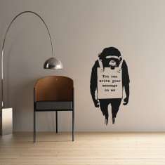 Personalised Banksy Monkey wall sticker