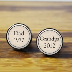 Dad to grandpa cufflinks