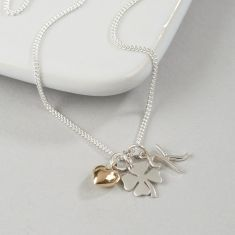 Personalised lucky in love necklace