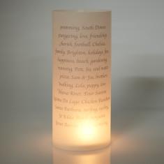 Personalised table lantern decoration