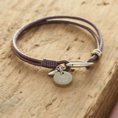 Personalised Nappa leather bracelet