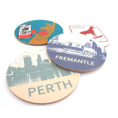 West australian coasters (set of 4)