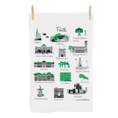 Perth icon tea towel