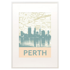 Perth skyline print