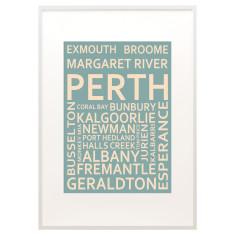 Perth text print