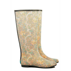 Peta paisley rubber wellies