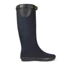 Peta strap black rubber wellies