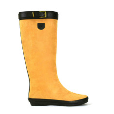Peta strap camel tall rubber Wellies