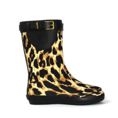 Peta strap leopard mini rubber wellies