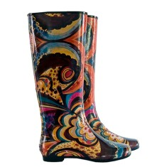 Peta swirl rubber wellies