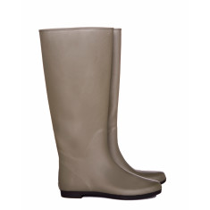 Peta taupe rubber wellies