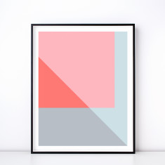 Melange No. 2 Geometric Art Print