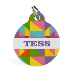 Personalised pet ID tag standard (geometric)