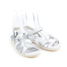 Kids' coast leather sandals in silver