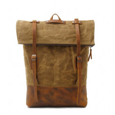 Canvas Backpack hipster laptop backpack travel backpack in tan