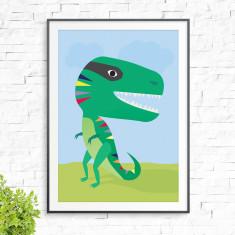 Smileysaurus print