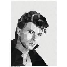 Geometric Bowie print