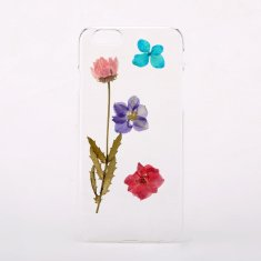 Larkspur & daisy pressed flower phone case for iPhone or Samsung