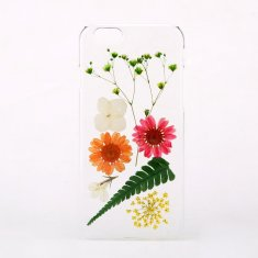Pressed daisy & leaf flower phone case for iPhone & Samsung