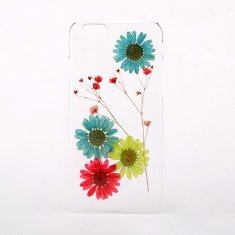 Pressed daisy flower phone case for iPhone & Samsung