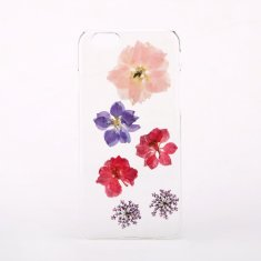 Pressed larkspur & queen anne's lace phone case for iPhone & Samsung