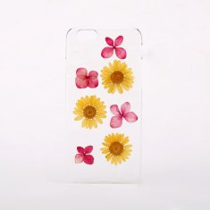 Red & yellow pressed flower phone case for iPhone or Samsung