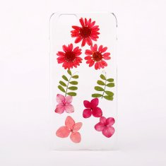 Mixed real dried pressed flower phone case for iPhone or Samsung