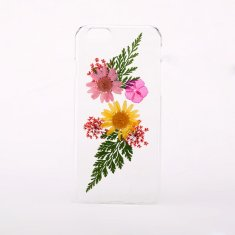Clear flower phone case for iPhone or Samsung