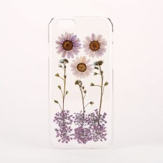 Pressed purple flower phone case for iPhone & Samsung